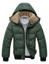 Теплая зимняя куртка (пуховик) с воротником и капюшоном, 7 цветов